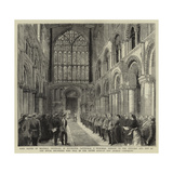 Lord Napier of Magdala Unveiling in Rochester Cathedral Giclee Print