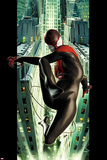 Ultimate Spider-Man No.2 Cover: Spider-Man Swinging Lámina por Kaare Andrews