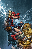 Avenging Spider-Man No.3 Cover: Spider-Man Fighting Kunstdrucke von Joe Madureira