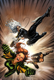 X-Factor No.217 Cover: Black Cat, Siryn, and M Flying Photo by David Yardin