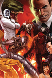 The Amazing Spider-Man No.644 Cover: Norman Osborn, Lizard, Menace, and Mister Negative Posing Poster par Marko Djurdjevic