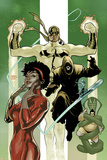 Defenders No.6 Cover: Misty Knight and Iron Fist Prints by Terry Dodson