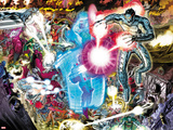 Avengers No.4: Ultron Flying and Fighting Prints by John Romita Jr.