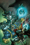 Thor: The Deviants Saga No.2 Cover: Thor and Ereshkigal Fighting Prints by Stephen Segovia