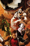 Amazing Spider-Man No.642 Cover: Peter Parker, Scorpion, Morbius, Rhino, and Anti-Venom Standing Posters by Marko Djurdjevic