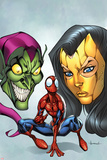 Marvel Adventures Spider-Man No.18 Cover: Spider-Man, Madame Masque, and Green Goblin Posters by Ale Garza