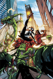 Spider-Island: The Amazing Spider-Girl No.3: Spider-Girl Fighting and Kicking Poster by Pepe Larraz