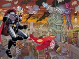 Avengers No.4: Thor and Galactus Flying and Fighting Bilder av John Romita Jr.