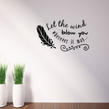 Let The Wind Blow Wall Decal