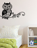 Doodle Owl Wall Decal