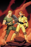 Warriors Three No.2 Cover: Fandral Fighting Prints by Amanda Conner