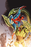 Heroes For Hire No.8 Cover: Spider-man and Scorpion Fighting Prints by Doug Braithwaite