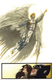 Fear Itself: Uncanny X-Force No.2: Watching Archangel Fly Print by Simone Bianchi