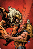 X-Men Forever 2 No.7 Cover: Sabretooth Fighting Print by Tom Grummett