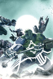 Fear Itself: Hulk vs. Dracula No.2 Cover: Hulk Fighting and Screaming Posters by Gabriele DellOtto