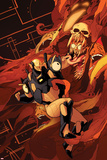New Mutants No.40 Cover: Warlock and Cypher Fighting Posters by Kris Anka