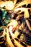Shadowland: Power-Man No.4: Iron Fist and Power Man Fighting Prints by Mahmud A. Asrar