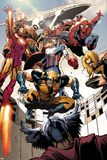 Annihilators: Earthfall No.1: Wolverine, Captain America, Iron Man and Others Jumping and Falling Prints by Tan Eng Huat