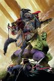Indestructible Hulk 13 Cover: Hulk, Black Knight Posters by Mukesh Singh