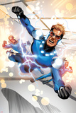 Fear Itself: The Home Front No.7: Speedball Flying Poster by Mike Mayhew