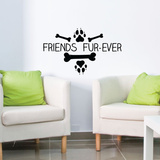 Friends Fur Ever Wall Decal