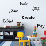 Words To Play By Wall Decal