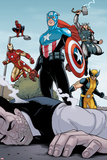 Heroic Age: One Month to Live No.5: Captain America, Wolverine, Iron Man, Thor, and Spider-Man Poster by Jamie McKelvie