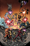 Wolverine and the X-Men 36 Cover: Iceman, Grey, Jean, Summers, Rachel, Pryde, Kitty, Cyclops Prints by Arthur Adams