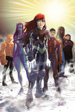 Generation Hope No.5 Cover: Hope Summers, Laurie Tromette, Gabriel Cohuelo, Idie Okonkwo and Others Posters by David LaFuente