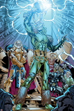 Marvel Adventures Super Heroes No.19: Loki Standing with Mjolnir Prints by Kevin Sharpe