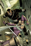 Daken: Dark Wolverine No.6 Cover: Daken and Tyger Tiger Fighting Prints by Giuseppe Camuncoli