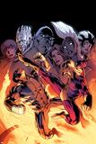Wolverine 9 Cover: Wolverine, Batroc the Leaper, Storm, Beast, Grey, Jean, Iceman, Summers, Rachel Affiche par Alan Davis