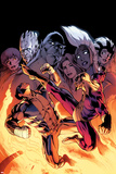 Wolverine 9 Cover: Wolverine, Batroc the Leaper, Storm, Beast, Grey, Jean, Iceman, Summers, Rachel Print by Alan Davis