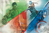 The Avengers: Age of Ultron - Hulk, Thor, and Captain America Posters