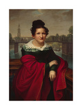 Portrait of an Architect's Wife, Berlin, 1821 Giclee Print by W. Herbig