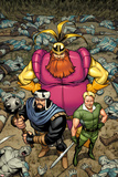 Warriors Three No.1 Cover: Fandral, Volstaag, and Hogun Standing Prints by Salvador Espin