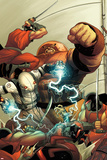 Thunderbolts No.148 Cover: Ghost and Juggernaut Fighting Posters by Frank Martin