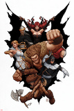 Thunderbolts No.169 Cover: Troll, Mr. Hyde, Boomerang, Moonstone, Satana, and Centurius Posters by John Tyler Christopher