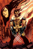 Wolverine and Jubilee No.3 Cover: Wolverine Flaming Prints by Nimit Malavia