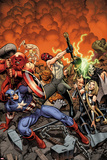 Fear Itself: The Fearless No.1 Cover: Skull, Valkyrie, Juggernaut, Crossbones, Thing, Capt America Posters by Arthur Adams