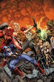 Fear Itself: The Fearless No.1 Cover: Skull, Valkyrie, Juggernaut, Crossbones, Thing, Capt America Pôsters por Arthur Adams