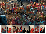 Ultimate Spider-Man No.153: Panels with Spider-Man and Iron Man Prints by Sara Pichelli
