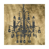 Gilt Chandelier V Print by Jennifer Goldberger