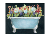 2-Up Bathtub Garden I Premium Giclee Print by Grace Popp
