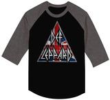 Def Leppard- Brit Logo (Raglan) - T-shirt