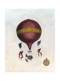 Vintage Hot Air Balloons III Poster by Naomi McCavitt