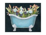 2-Up Bathtub Garden II Premium Giclee Print by Grace Popp