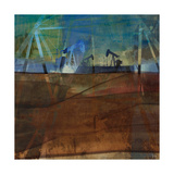 Oil Rig Abstraction II Print by Sisa Jasper