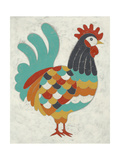 Country Chickens I Art by Chariklia Zarris