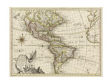 A New Map of America, 1769 Premium Giclee Print by  Vallet